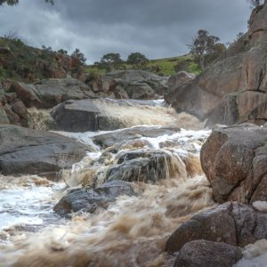 Mannum Waterfall in flood recent rains